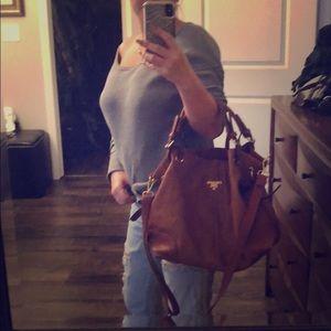 Handbags - Prada -style hobo bag. Camel color